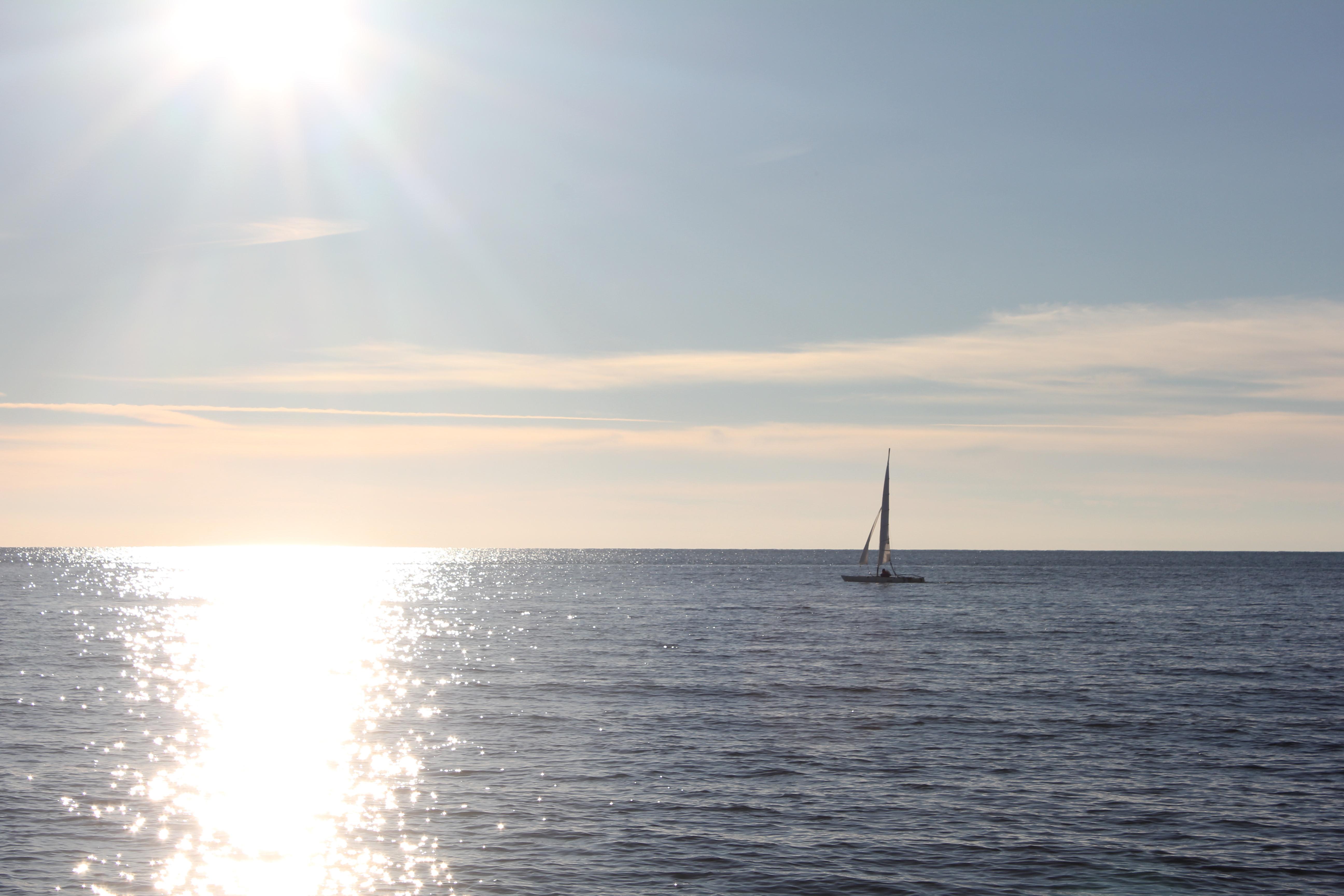 Seaside sunbathed
